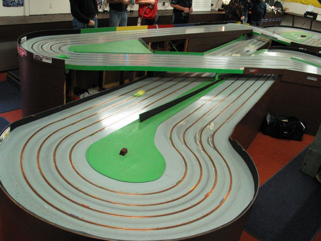 This slot-car track is way, way cooler than ours was.