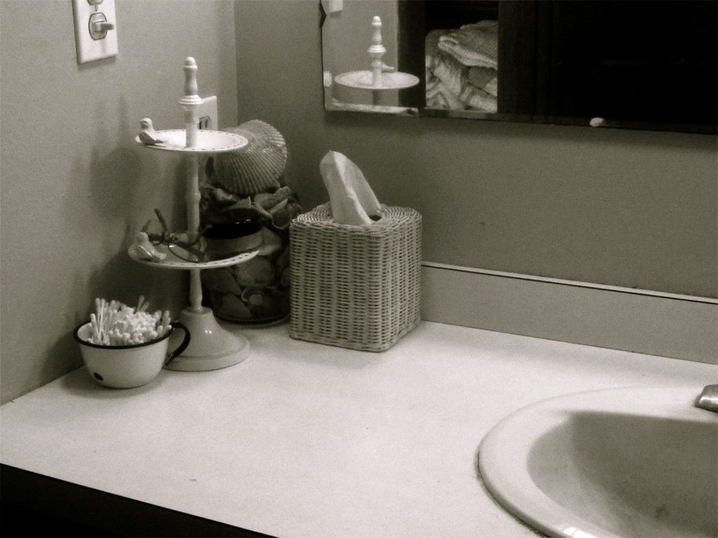 "This--an ""after"" shot of my bathroom sink--just makes me so happy."