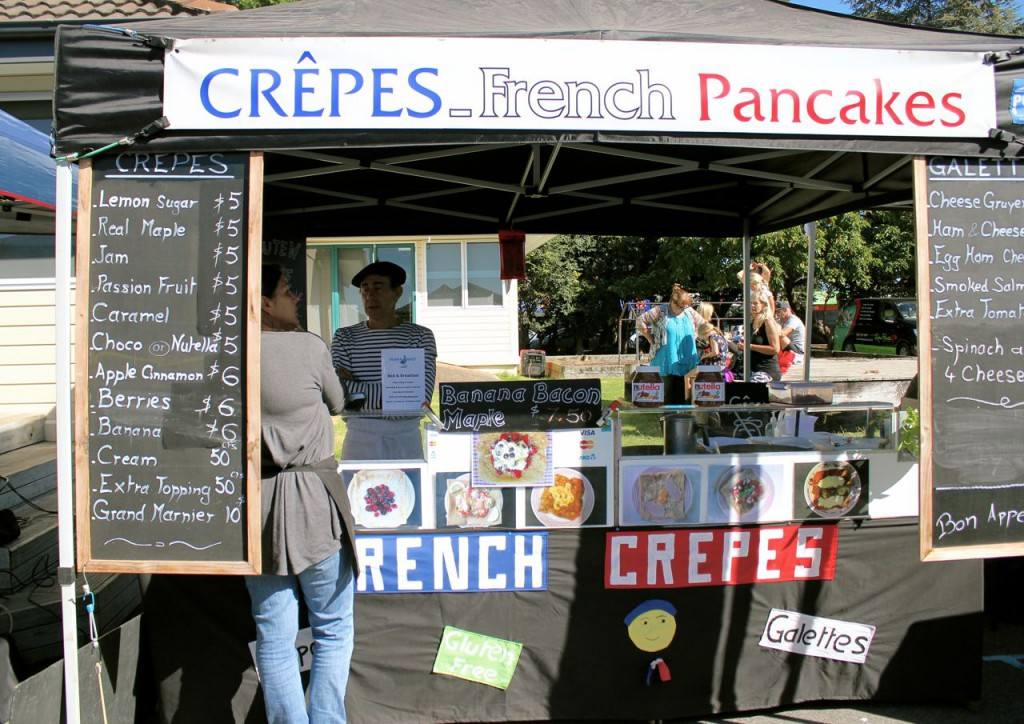 We appreciated the way the vendor was dressed, with a stereotypically French costume and beret.