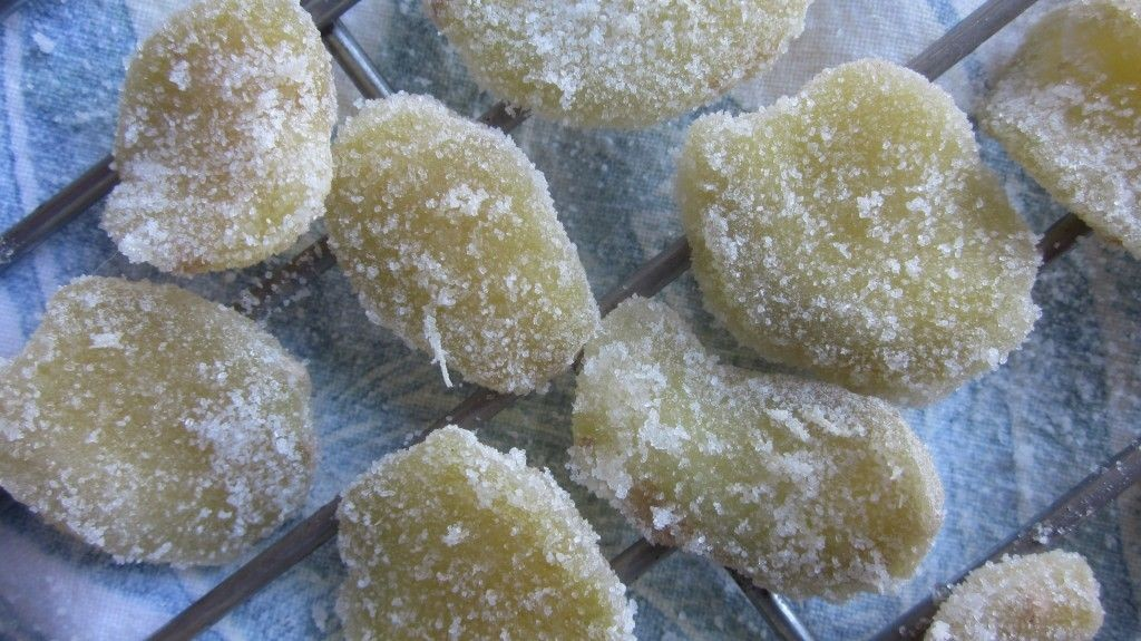 candied ginger.