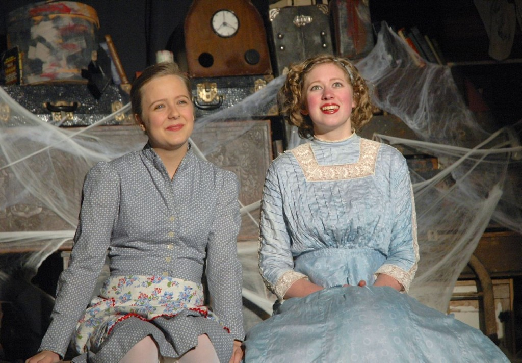Sarah Anderson and daught Amalia perform a scene during a dress rehearsal this week.
