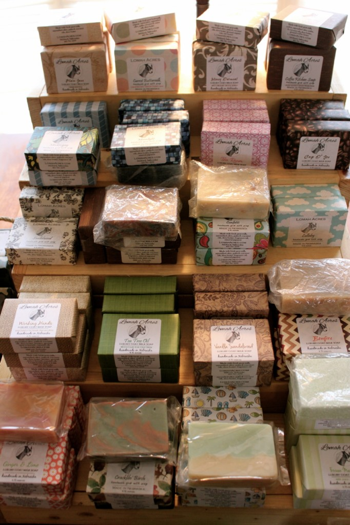 You can spend a happy hour or two just admiring and comparing the way these soaps look and smell.