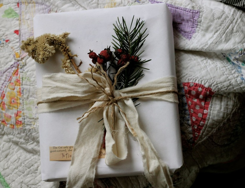 package wrapped with dried things