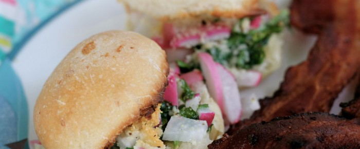 How to make Scrumptious Radish Sliders: addictive as all get-out!
