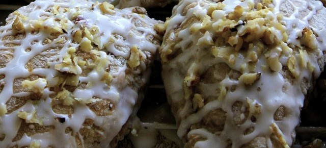 Raspberry Walnut Scones, and a book teaser