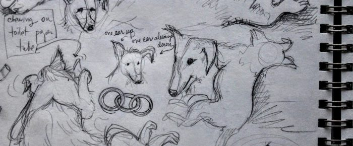 Sketchbook Thursday: drawing the puppy and how to do memory sketches