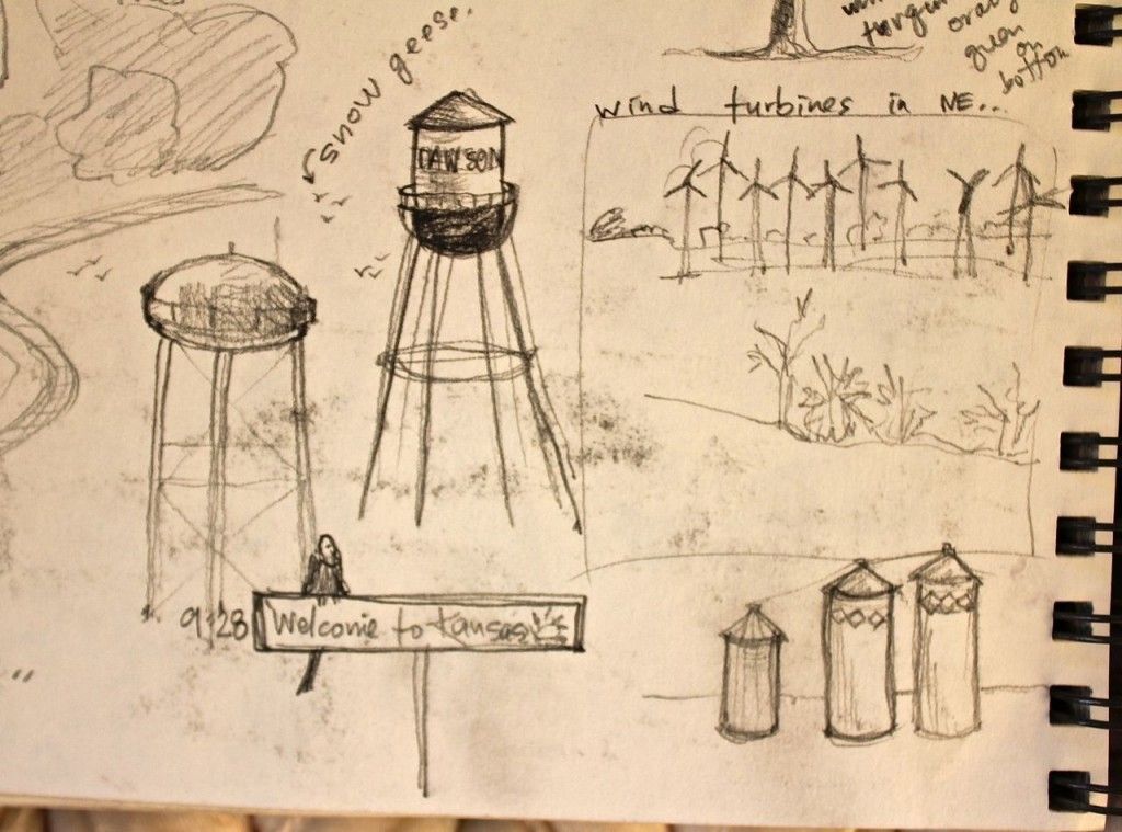 Water towers and silos in Kansas!