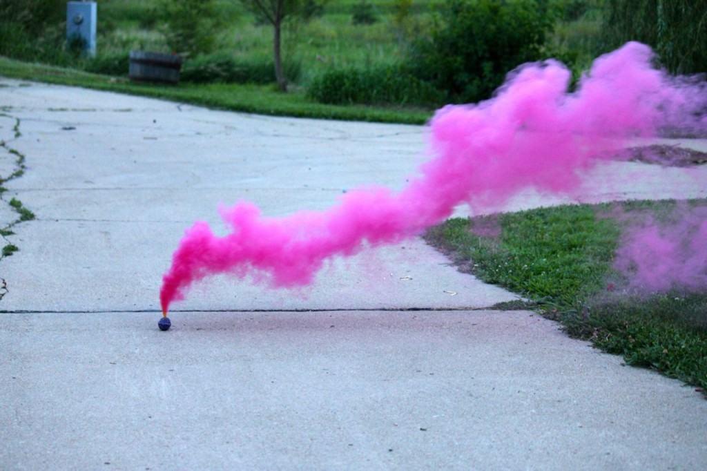 This seems like an appropriate spot for a photo of a smoke bomb. Don'tcha think?