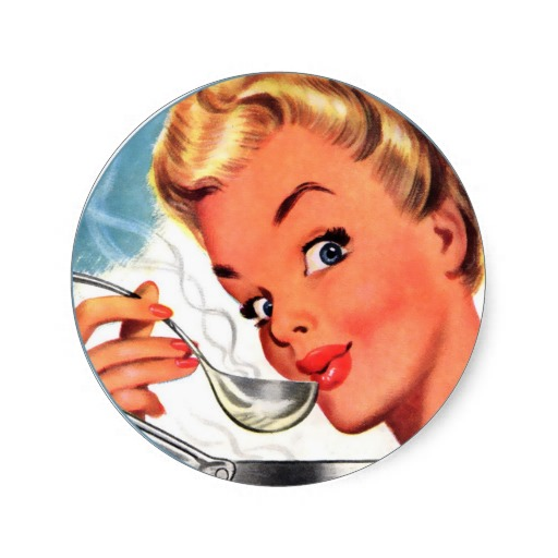 """Something like this would work: can't you see it? """"Put away the cosmetics--drink Bone Broth for Beauty!!"""""""