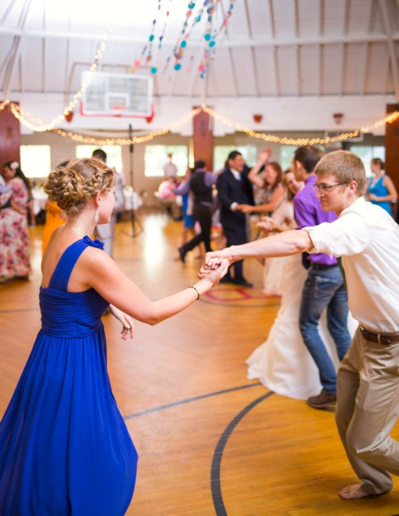Amalia as maid of honor, and Timothy have fun on the dance floor. (Photo by Ian Rothell Photography)